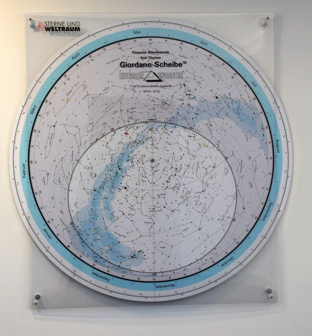 Our new planisphere can be found in the foyer, opposite the entrance to the Klaus Tschira Auditorium.