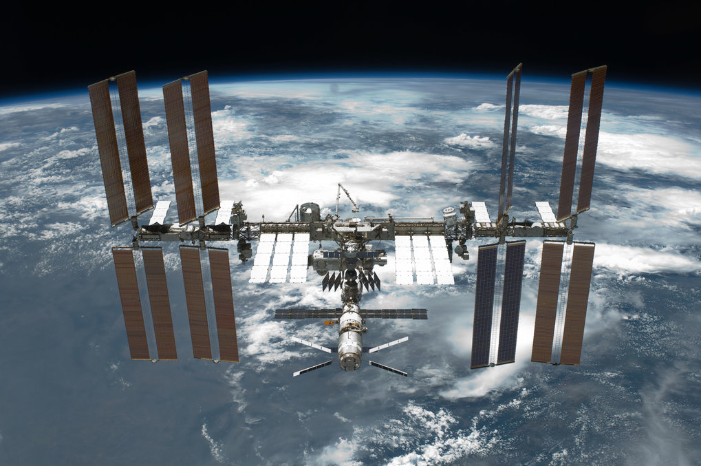 A picture of the International Space Station (ISS) taken on 30 May 2011.