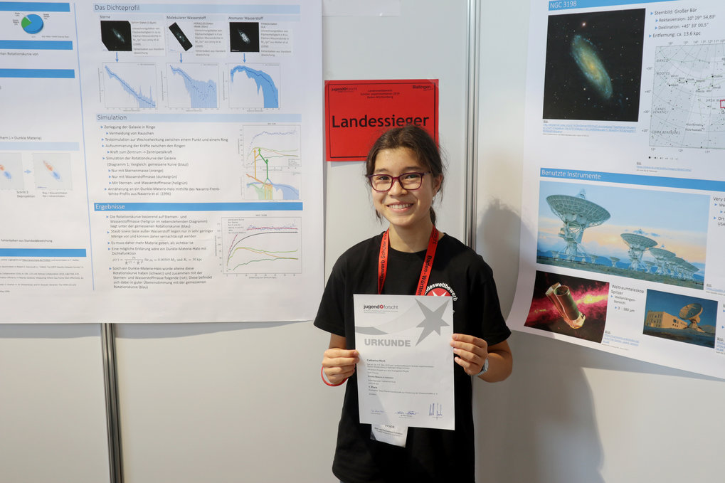 "Catharina Hock at the State Level Science Fair ""Schüler Experimentieren"" in Balingen in May 2019"